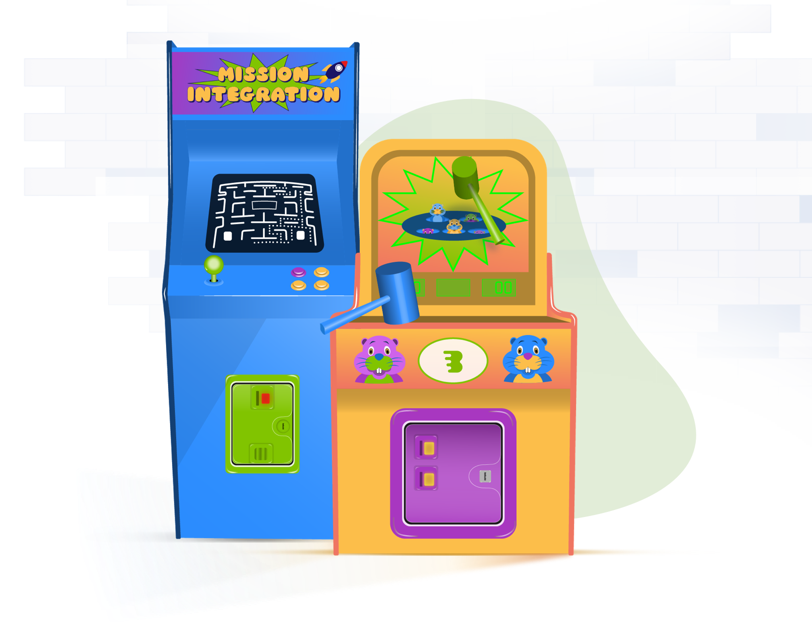 arcade-game-illustrations-showing-digital-promotions